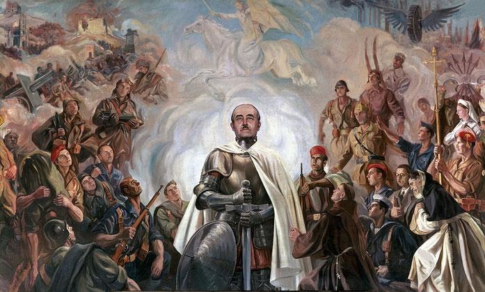 Alegoría de Franco y la Cruzada