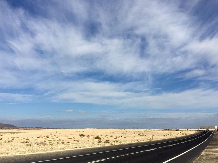Auf dem Weg ins neue Zuhause, in den Norden von Fuerteventura nach Corralejo - La Capellania oder auch Tamaragua