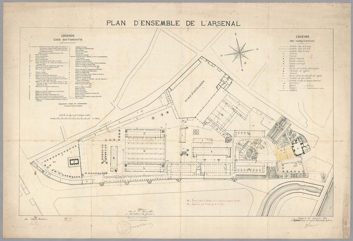 La Cartoucherie occupe le bâtiment F.  A cette époque, la plus grande partie de la Cartoucherie a été transférée au Polygone.