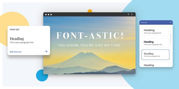 combinazioni di font per il sito Dolphin