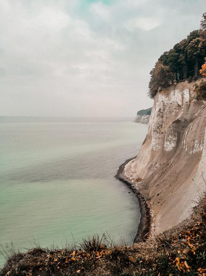 Ausblick auf die wunderschöne Kreideküste Rügens