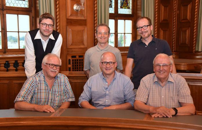 Der ZVM-Vorstand (v. l.): Sven Gallinelli, Josias Clavadetscher, Dominik Buholzer, Martin Hubatka, Urs Schlatter und Josef Ritler.  (Bild: Jürg J. Anreger)