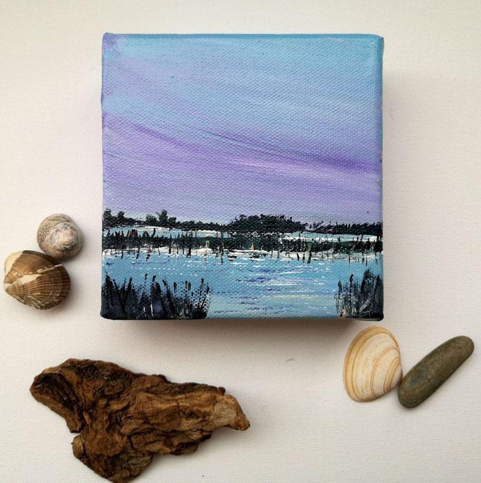 mini-peinture-marine-marais-cile-violet-petit-tableau-carre-artiste-peintre-royan-france