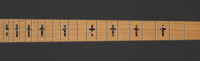 Straight Cross - Black Pearloid