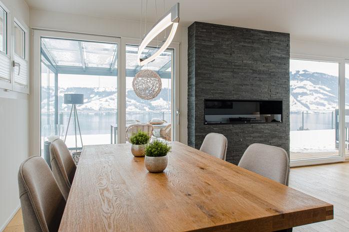 Interior ReDesign Einrichtung Terrassenwohnung Immensee