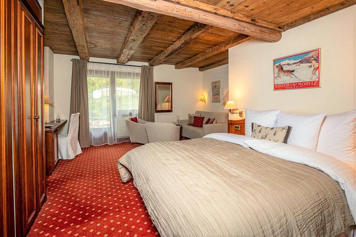 Hotel Landgasthof Meierei St. Moritz Superior Zimmer mit Balkon