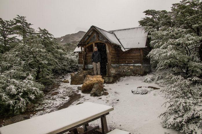 Hochsommer in Patagonien kann auch so aussehen. Das Bild entstand Ende Dezember