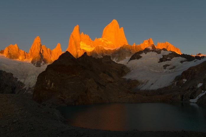 Sonnenaufgang am Fitz Roy, Patagonien