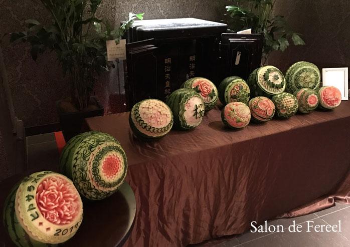 カービング スイカ 教室 フルーツ 彫刻 大阪 オーダー 習い事