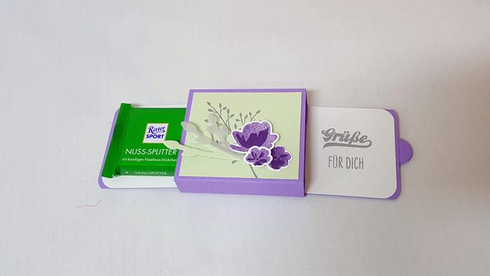 Hochzeitskarte, Glückwunsch zur Hochzeit, Glückwunschkarte zur Hochzeit, Florale Grüße, Gutscheinverpackung, Stampin Up, Stempelkiste