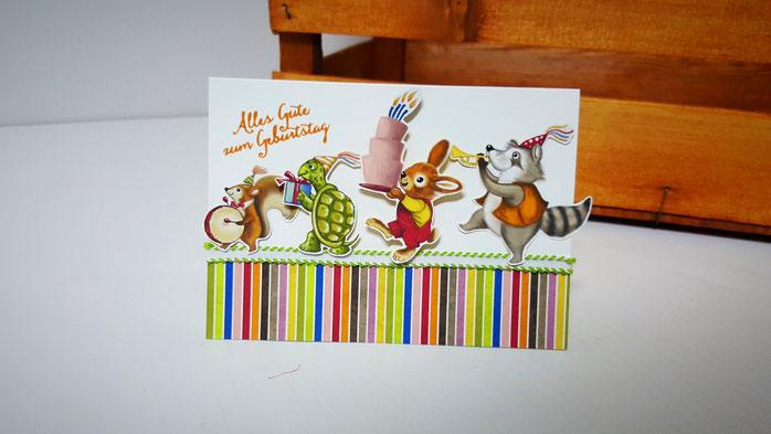 Geburstagskarte Kind, 1. Geburtstag, Stampin' Up!, Stempelkiste, Nostalgischer Geburtstag, Stempel Partyballons