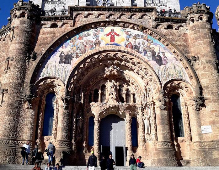 Храм Святого Сердца в Барселоне - крипта