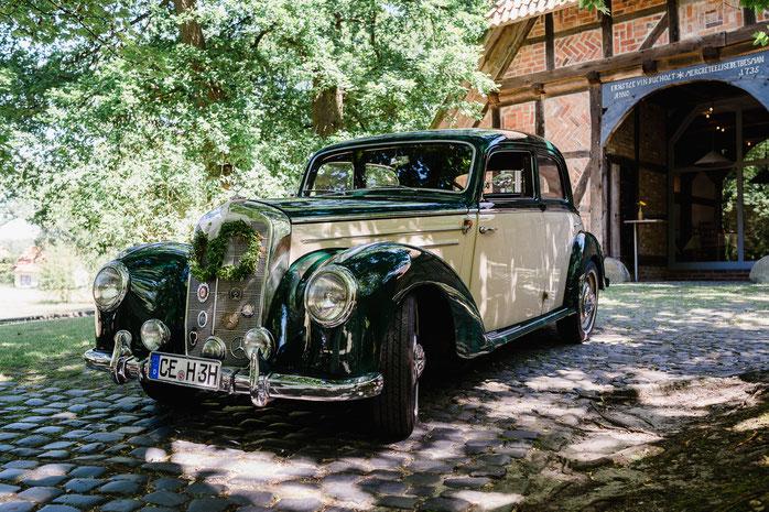 Wildland Hotel, Hochzeitsauto, Mercedes