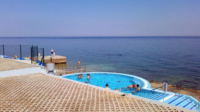 Izola, Strand Einrichtungen für Behinderte