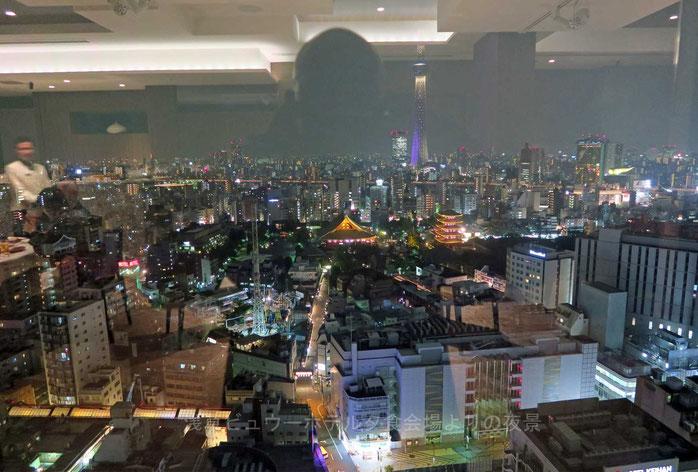 浅草ビュウーホテル夕食会場よりの夜景