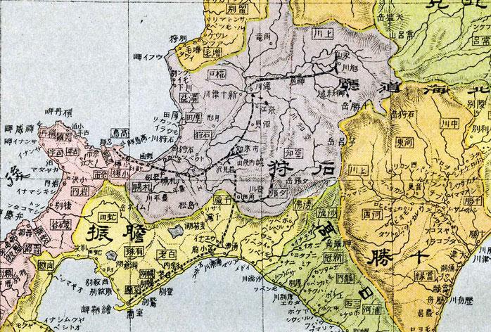 明治32年訂正発行・大日本新地図