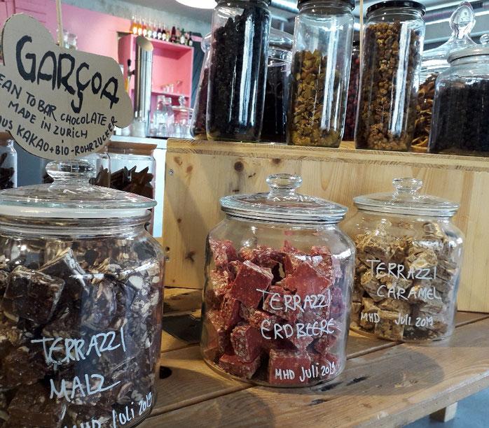 zerowaste, unverpackt Laden, bio-Lebensmittel Zürich, Schokolade, nachhaltig