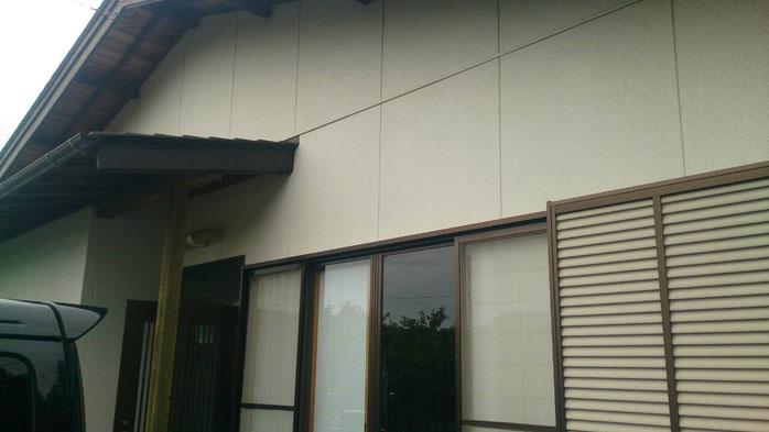 M町・T邸和風霧除け施行前の画像