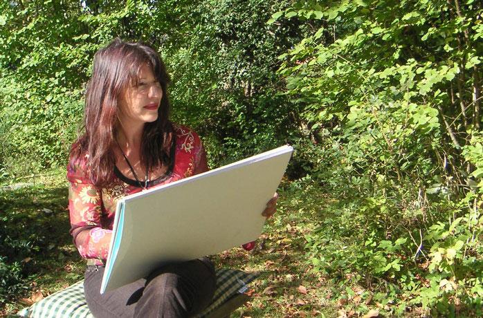 Christina Etschel, geb. Helmprecht - München/Mallorca -Künstlerin, Malerin, Schriftsteller - Vexierbilder