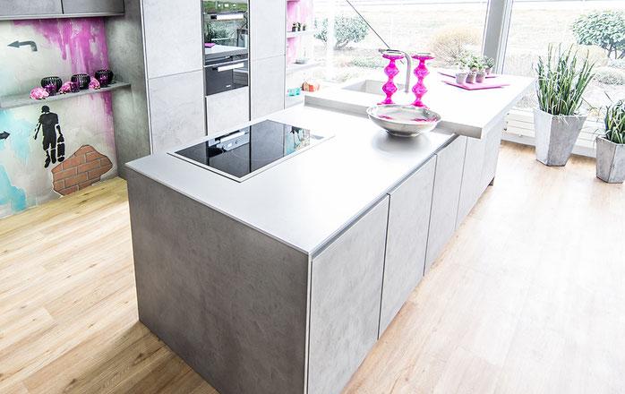 Küchen-Glück-Edelstahl-Arbeitsplatte