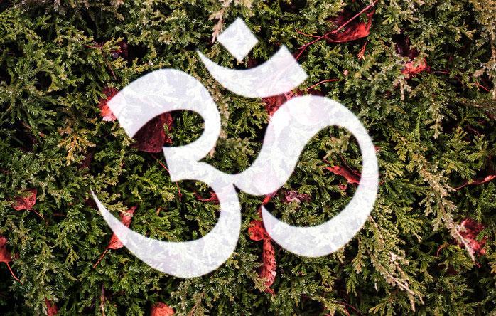 Le mantra Om en sanskrit. D'un point de vue hindouiste, cette syllabe représente le son originel, primordial, à partir duquel l'Univers se serait structuré.