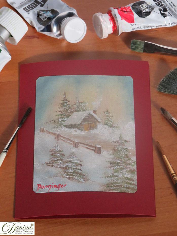 Weihnachtskarten Malen.Weihnachtskarten Basteln Daninas Kunst Werkstatt