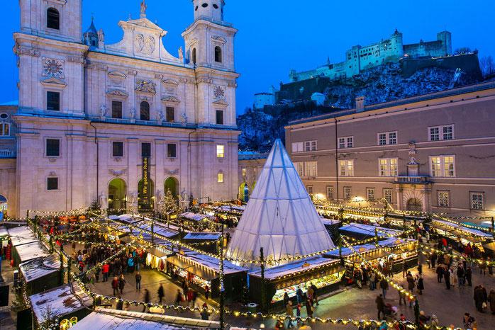 Christkindlmarkt in Salzburg mit über 525-jähriger Geschichte und Tradition. Fotoquelle: Tourismus Salzburg