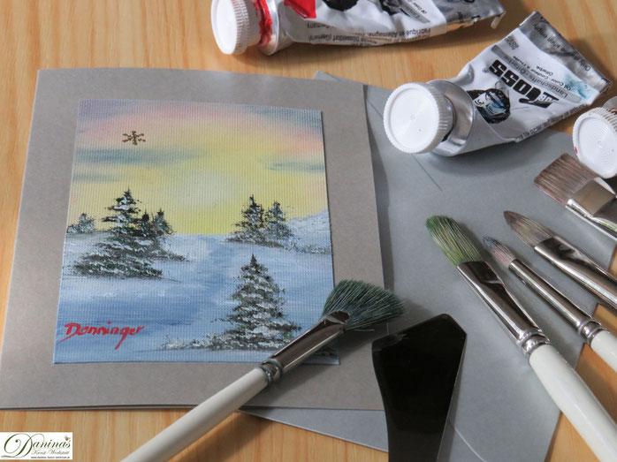 weihnachtskarten basteln daninas kunst werkstatt. Black Bedroom Furniture Sets. Home Design Ideas