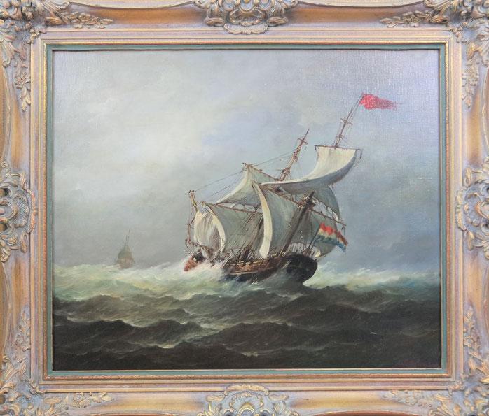 te_koop_aangeboden_een_marine_schilderij_van_willem_aberson_1885-1964
