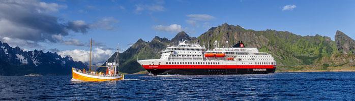 "Hurtigruten Kreuzfahrten 2021 und Winter 2021/22 direkt ab Hamburg bis zum Nordkap incl. Lofoten mit dem MS ""Otto Sverdrup""  ©  Foto 2020 Hurtigruten GmbH"