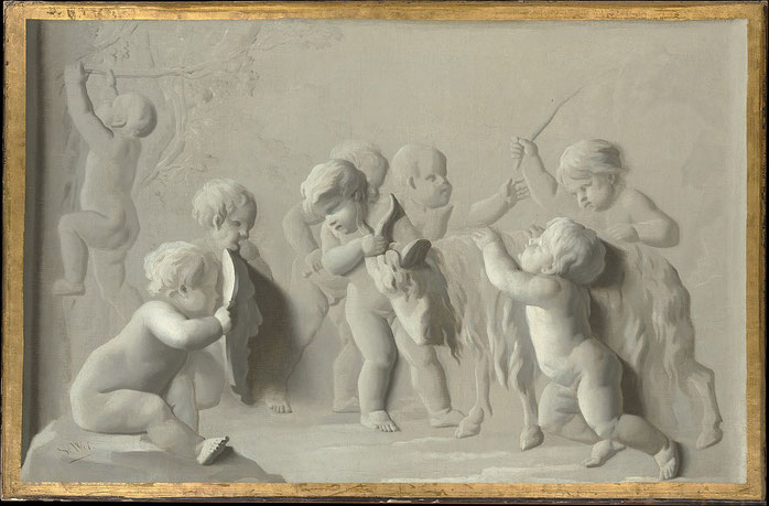 """Children Playing with a Goat"", Metropolitan Museum of Art"
