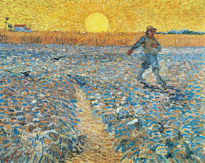 """Vincent Van Gogh, """"Seminatore al tramonto"""" (1888)"""