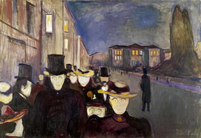 "E. Munch, ""Sera sul viale Karl Johan"""