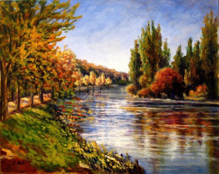 Rio Duero. Óleo de 50 x 40