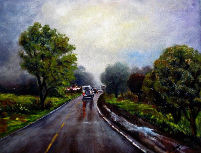 Óleo sobre lienzo de 504 x 40