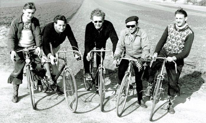 RV Schwalbe 1954: Rudi Kohler, Albert Sauter, Sepp Langer, Günter Schiele, Manfred Weher