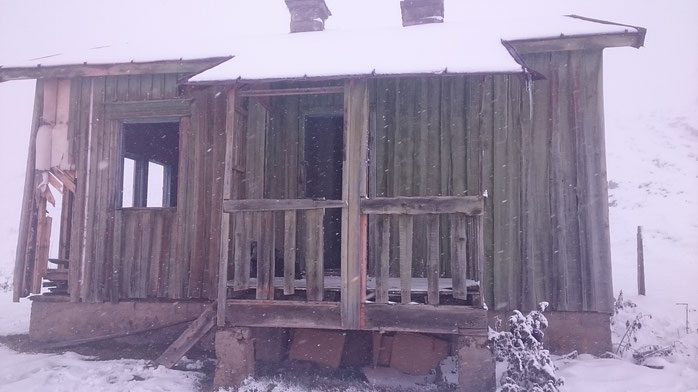 Old hut from the border patrol abandonded for a couple of years at 2'200 meters.