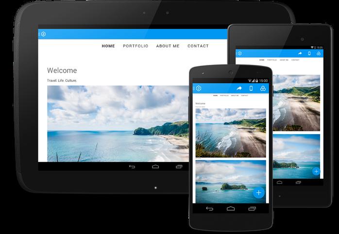Приложение Jimdo для Android