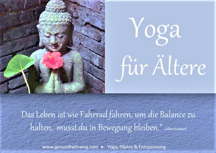 Yoga für ältere Menschen in Heidelberg, achtsam, ohne Akrobatik, Yoga 60 plus, Gesundheitsweg, Eva Metz Heidelberg