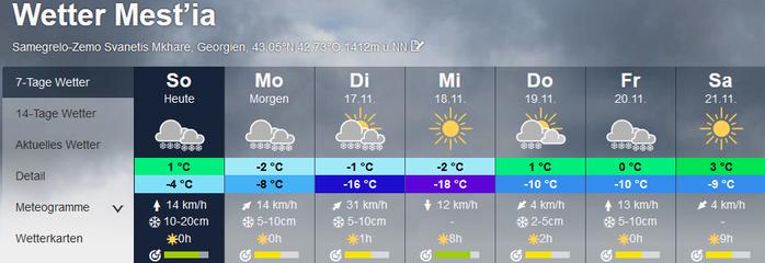 snow, Mestia