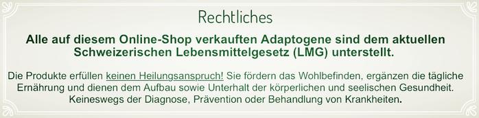 Rechtslage Schweiz - Zimmerli Adaptogene