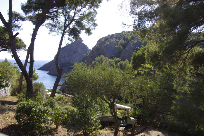 La Ciotat, one of the two calanques, Figuerolles
