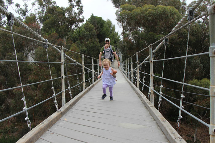 Spruce St. Suspension Bridge - San Diego With a Baby