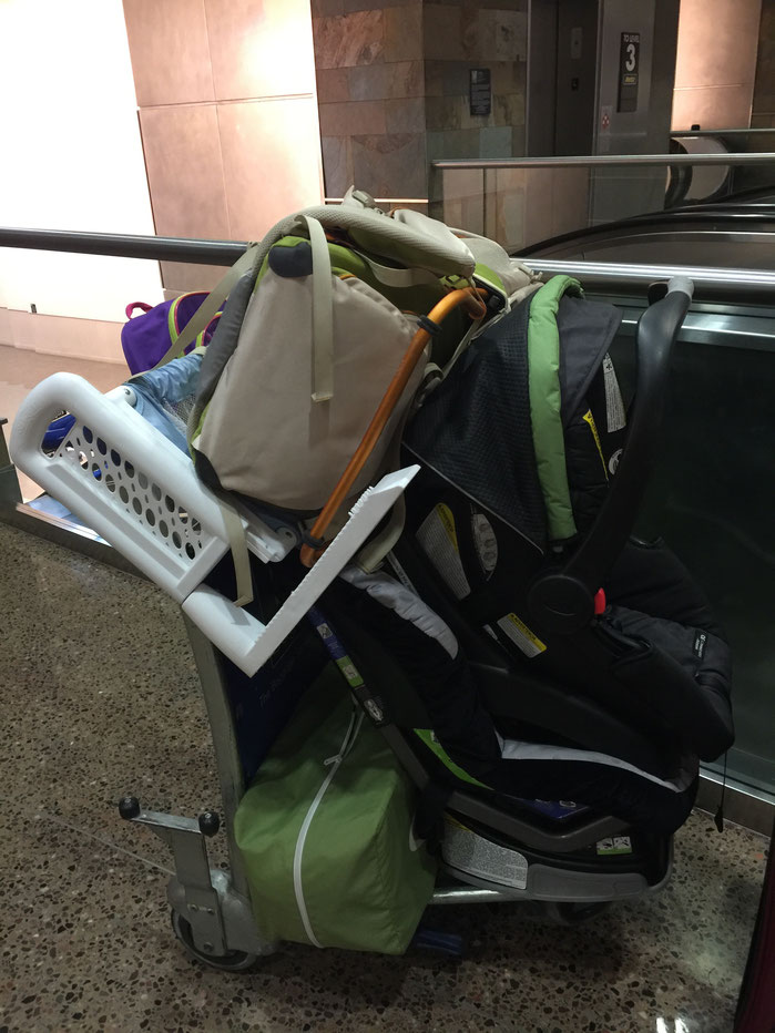 Renting baby equipment when travelling with a baby