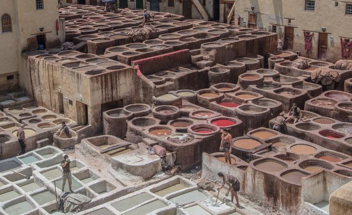 Fez - Conceria Chouara, la più antica del mondo