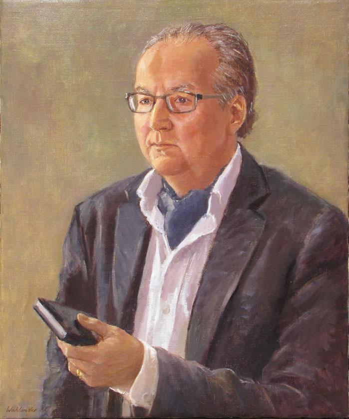 Tony Wahlander (Wåhlander) tableau représentant le portrait d'un ami