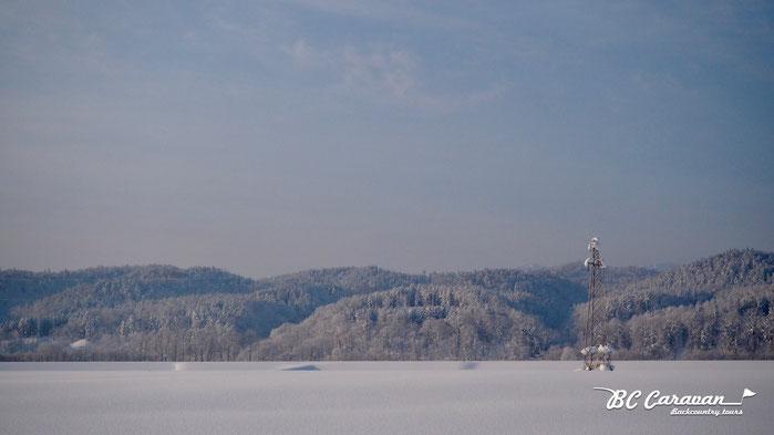 どこまでも広がる雪原。