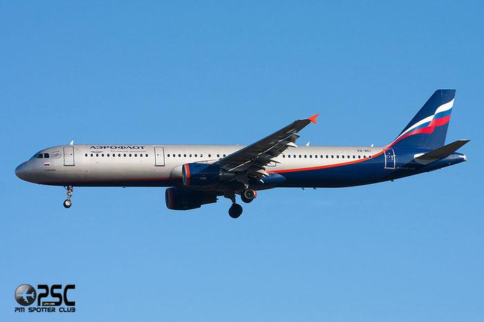 VQ-BEI A321-211 4148 Aeroflot @ Milano Malpensa Airport 27.12.2013  © Piti Spotter Club Verona