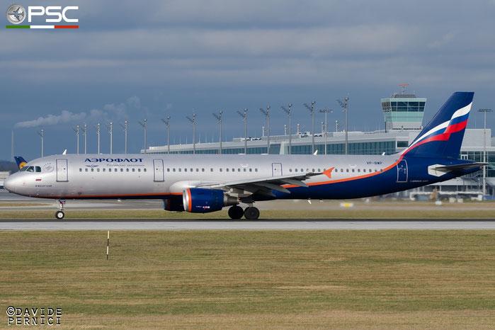 VP-BWP A321-211 2342 Aeroflot @ Munich Airport 13.12.2015 © Piti Spotter Club Verona