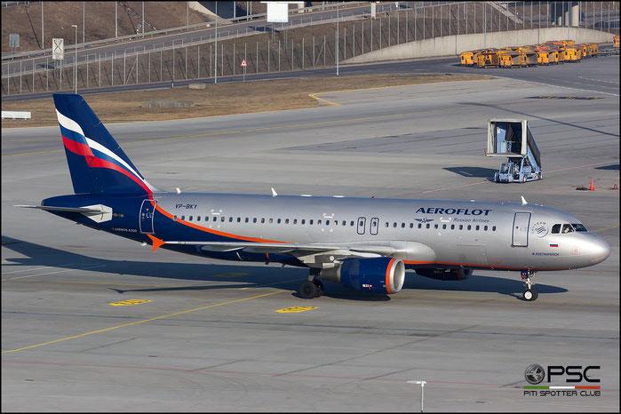 VP-BKY A320-214 3511 Aeroflot @ Munich Airport 14.02.2017 © Piti Spotter Club Verona
